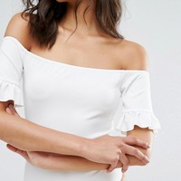 Missguided Frill Sleeve Body at asos.com