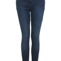 Short Dark Wash Sateen Jean
