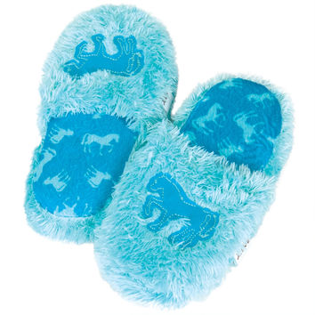 Horse Fuzzy Kid's Spa Slippers
