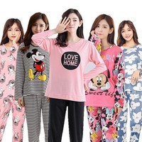 Pajamas Sets 22 Style Thin Carton Generation Sleepwear Suit