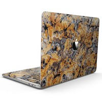 Abstract Wet Gold Paint - MacBook Pro with Touch Bar Skin Kit