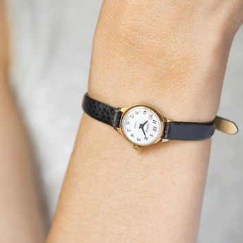 Minimalist Women's Watch Gold Plated Lady Wristwatch Seagull Micro Watch Women's Small Gift Mini Watch Mechanical Luxury Leather Strap New