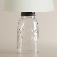 Mason Jar Accent Lamp Base - World Market