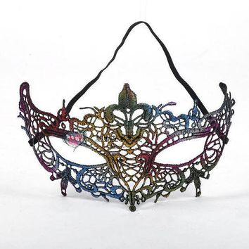 Sexy Lace Color Mask Color Female Half Face Mask Sexy Halloween Party Princess Mask