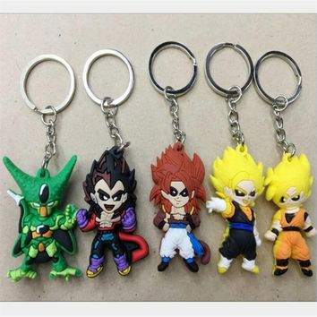 Kawaii Dragon Ball Keychain New Arrival Hot Sale Pvc Anime Movie Action Figure Pendant Keyring For Cartoon Fans Collection Toys