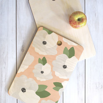 Allyson Johnson Romantic Floral Cutting Board Rectangle