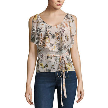 Buffalo Jeans Floral Ruffle Tank Top - JCPenney