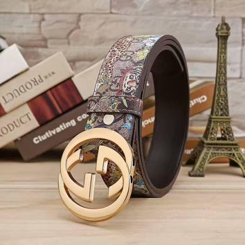 Perfect GUCCI Woman Fashion Smooth Buckle Belt Leather Belt+Nice gift box!-2