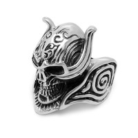 Stylish Jewelry Gift New Arrival Shiny Skull Titanium Colourfast Accessory A4 Size Ring [6544854915]