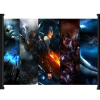 "Mass Effect 3 Game Fabric Wall Scroll Poster (26""x16"") Inches"
