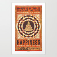 44. BUDDHA Art Print by Zen Pencils