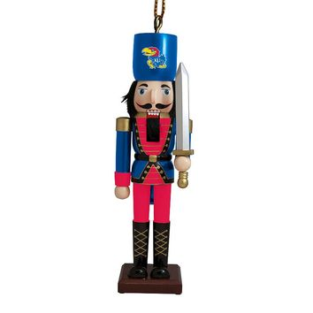 Kansas Jayhawks Nutcracker Christmas Ornament