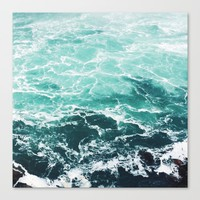 Blue Water Canvas Print by Alexandra Str