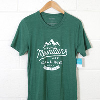 The Mountains are Calling Graphic Tee, Green