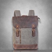 New zip detail Genuine Leather and Canvas Messenger Bag laptop tablet A4 documents postman travel business casual school