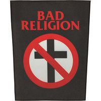 Bad Religion Men's Crossbuster Back Patch Black