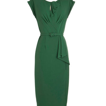 Stop Staring Timeless Wiggle Dress Green