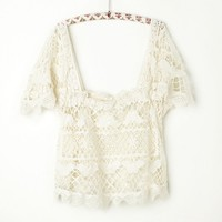 Free People Crochet Battenburg Cami