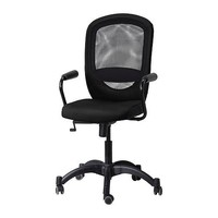 VILGOT/NOMINELL Swivel chair with armrests - black - IKEA