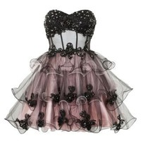 New Look Mobile | Ruby Prom Black Layered Prom Dress