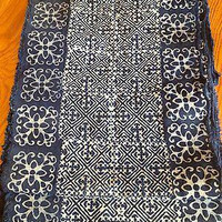 2.5 Yards Thai Hmong Tribal Indigo Vintage Style Fabric 156 Ethnic Cotton Handwoven Textile