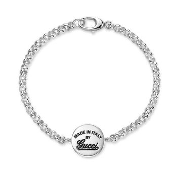 Gucci Craft Signature Link Bracelet in Sterling Silver