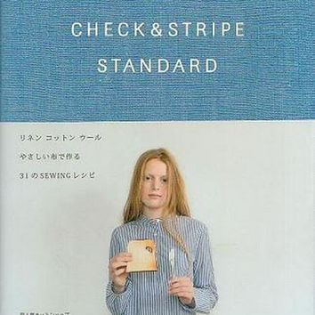 Check & Stripe Standard - Japanese Sewing Pattern Book for Women and Children - B277
