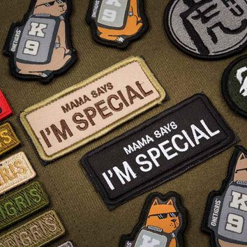 OneTigris Original Cool Funny Patches Tactical Morale Military Patch Mama Says I'm Special Reveals The Unique