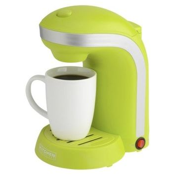 Kitchen Selectives 1-Cup Single Serve Drip Coffee Maker, Green