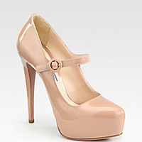 Prada - Mary Jane Patent Leather Platform Pumps - Saks Fifth Avenue Mobile