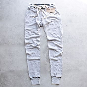 project social t - big sur jogger - mineral wash stone + black