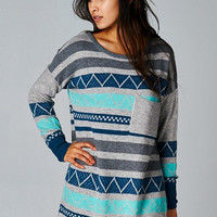 Diamond Moon Sweater - Aqua - Hazel & Olive