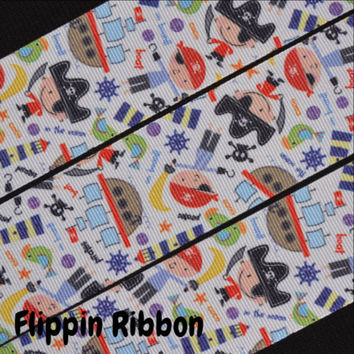 Little Pirates Ribbon, 3 Yards, 1 1/2 inch Grosgrain