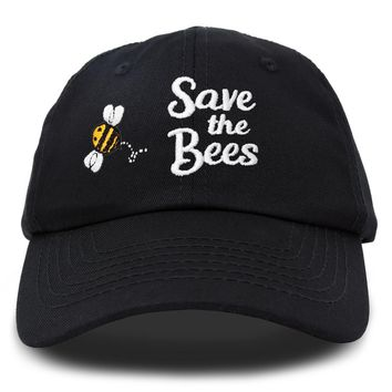 DALIX Save The Bees Baseball Cap Dad Hat Embroidered Womens Girls