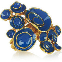 Yves Saint Laurent | Arty enamel gold-plated ring | NET-A-PORTER.COM