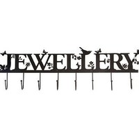 whimsical jewellery hooks in black or cream by not a jewellery box   notonthehighstreet.com