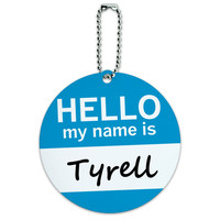 Tyrell Hello My Name Is Round ID Card Luggage Tag