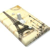 Eiffel Tower Decor Light Switch Cover French Style Home Decor Pairs France Cream Decoration 1296