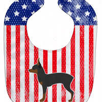 USA Patriotic Toy Fox Terrier Baby Bib BB3287BIB