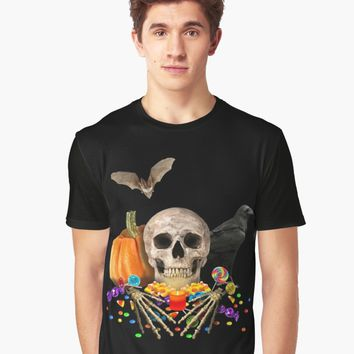 'Halloween candy keeper' Graphic T-Shirt by ValentinaHramov