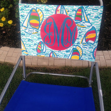 Hand Painted Preppy Beach Chair