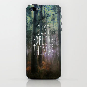 Just Explore Things iPhone & iPod Skin by Ally Coxon | Society6 |also available as iphone case, pillow, cards, pints and canvas
