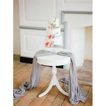 Gray Gauze Table Runner