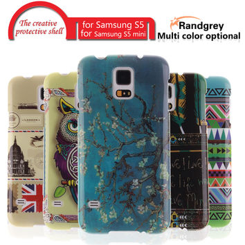 RandGrey original Fashion Painted Pattern TPU Silicone Soft sFor Samsung S5 Case For GALAXY S5 MINI Cell Phone Back Cover Case