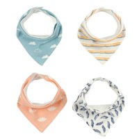 2Pcs Triangl Baby Bibs Double Layers Infants Burp Dribble Bib Bavoir Cotton Baby Bandana Bib Baberos Bebes Newborn Saliva Towel