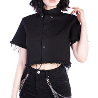 Exile Cropped Shirt