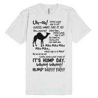 Hump Day T-Shirt (Black Art)-Unisex White T-Shirt