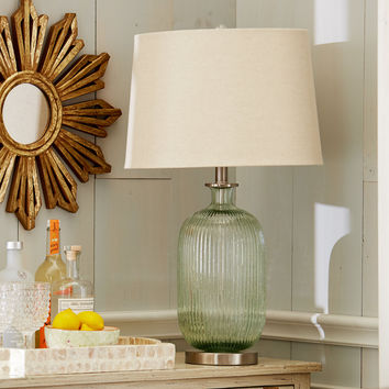 Ribbed Sparkle Glass Table Lamp