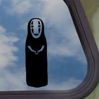 "Spirited Away No Face Studio Ghiblil Sticker Decal Notebook Car Laptop 6"" (Black)"