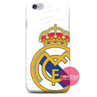 Real Madrid Football Club White Logo iPhone Case 3, 4, 5, 6, 6s, 6 Plus Case Cover